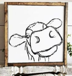Such a funny and cute picture of a cow! Farmhouse Signs, Farmhouse Decor, Modern Farmhouse, Farmhouse Style, Cow Canvas, Cow Decor, Cow Pictures, Cow Face, Cow Painting