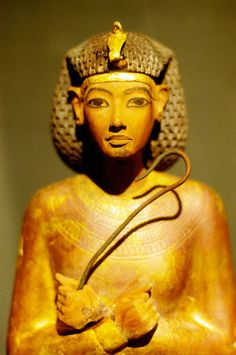 'Ushabti' figure from the tomb of Tutankhamun at museum, Egypt                                                                                                                                                                                 More