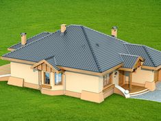 Projekat moderne prizemne kuće s garažom – Verona Simple House Design, Dream Home Design, My House Plans, Modern House Plans, Beautiful House Plans, Beautiful Homes, House Construction Plan, House Design Pictures, Bungalow House Design