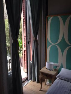 Hotel Violeta Boutique in Barcelona Couple Room, Hostel, Curtains, Boutique, Home Decor, Blinds, Decoration Home, Room Decor, Draping