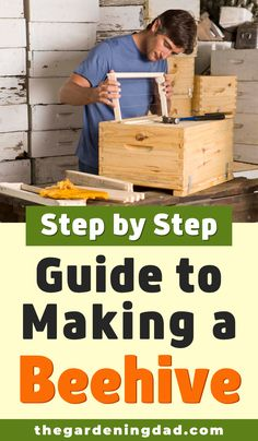 Learn How to Make a Beehive with this Step by Step Guide! This is perfect for beginners, if you want to DIY, or even if you want to buy a kit! Best of all is that it is only 8 Simple Steps! Honey Bee Box, Honey Bee Hives, Honey Bees, Bee Hives Boxes, Bee Boxes, Building A Beehive, Backyard Beekeeping, Beekeeping Course, Bee Hive Plans