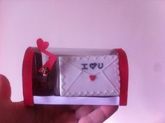Mail box with love cookie letter saint valentine's  icing glass 14 february Buzon de tarjetasmde amor, Galletas  de san valentin, 14 de febrero