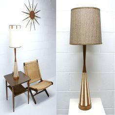 Danish Mid Century Teak lamp $119 - Waterford http://furnishly.com/catalog/product/view/id/3028/s/danish-mid-century-teak-lamp/