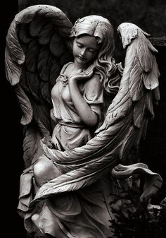 Fashion Art Sculpture 25 New Ideas Statue Tattoo, Cemetery Angels, Cemetery Art, Angels Among Us, Angels And Demons, Statue Ange, Engel Tattoos, Religious Tattoos, Art Sculpture