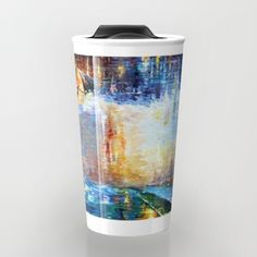 mary poppins abstract art special for Mothers day Travel Mug #mug #travelmug #marrypoppins #art #painting #abstract #artpainting #umbrellagirl #colourfull #starrynight #artdesign