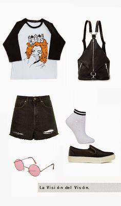 La Visión del Visón: Lookbook || One top, two ways Jeans, Shorts, Polyvore, Tops, Style, Fashion, Socks, Slippers, Look Books