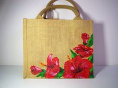 Best 12 Ecofriendly hand painted with unique blend of colours on premium grade jute tote bag – SkillOfKing. Hessian Bags, Jute Tote Bags, Painted Canvas Bags, Tods Bag, Sacs Design, Fabric Bags, Fabric Painting, Hand Painted, Mod Melts