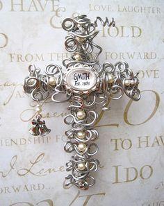 Personalized Wedding / Anniversary Wall Cross Wedding Gift Keepsake