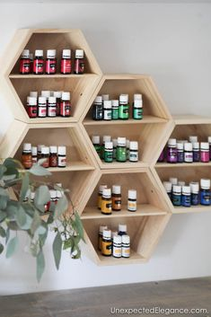 Essential Oil Wall Storage This is a pretty storage solution for housing all your essential oils!This is a pretty storage solution for housing all your essential oils! Essential Oil Rack, Essential Oil Storage, Ikea Regal, Wall Storage Systems, Young Living Oils, Diy Storage, Storage Ideas, Shelf Ideas, Diy Interior