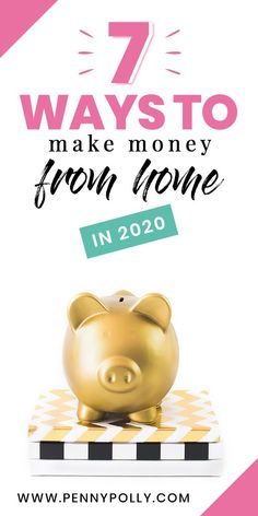 Now more than ever, making money from home is crucial! Whether you are just looking for a way to make extra money, or need to actually make a full-time income, here are 7 smart and easy ways to make money from home. Earn Money From Home, Earn Money Online, Make More Money, Ways To Save Money, Online Jobs, Extra Money, Online Income, Money Challenge, Making Extra Cash