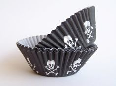 Pirate Skull Baking Liners $3.50