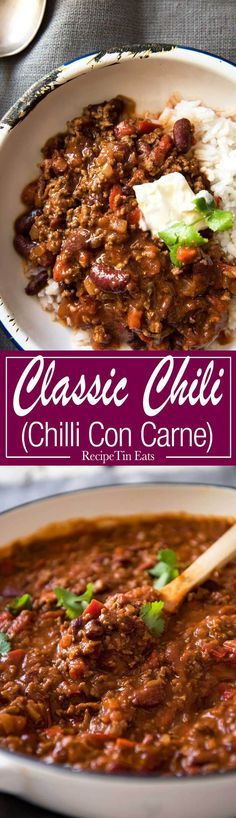 This hearty classic is made with beef in a richly spiced tomato sauce.. Even better the next day! www.recipetineats.com