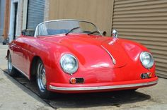 This 1976 Porsche 356 Speedster Replica comes equipped with a fuel injected engine that runs well. The car comes complete with top, side-curtains, and tonneau cover. It has a very clean fiberglass body and a good solid undercarriage as well. This would be an excellent car to own and enjoy driving. Priced very reasonably at just $12,500.