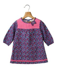 Love this Blue & Pink Floral A-Line Dress - Infant, Toddler & Girls on #zulily! #zulilyfinds
