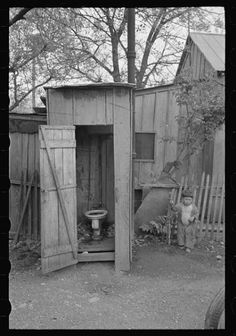 Privy and water supply, Mexican district, San Antonio, Texas. March 1939