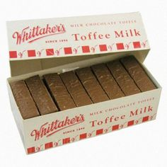 Buy Whittaker's Toffee Milk at Mighty Ape NZ A Kiwi classic! Bulk box with 72 toffee milks – hard caramel toffee sticks covered in Whittaker's smooth rich creamy milk chocolate each). Chocolate Toffee, Chocolate Flavors, Chocolate City, My Childhood Memories, Childhood Toys, Kiwi Growing, New Zealand Food And Drink, K Bar, Milk Box
