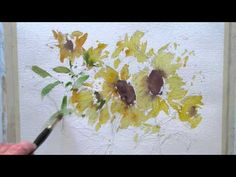 Loose watercolor flowers - YouTube