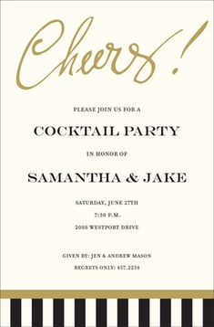 Cheers Invitations