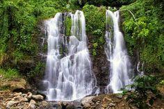 Kalibendo Waterfalls in Garut, West Java Garden Waterfall, Beautiful Homes, House Beautiful, Surabaya, National Parks, Tours, Travel, Outdoor, Waterfalls