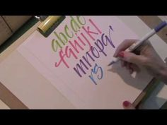 Calligraphy by Martha Lever Calligraphy with Zig Brushable Markers! Online class coming August 1st from  www.creativeworkshops.ning.com Learn to use these wonderful markers to create all sorts of fun calligraphy lettering in your journal or scrapbook pages---or where ever!