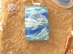 Reserved for a Customer Stunning Sea Turtle Dichroic by ccvalenzo