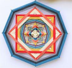 Iris Gal Heart Art, String Art, Old And New, Iris, Folk Art, Frame, Inspiration, Gods Eye, Tutorials