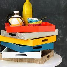 Small Rectangle Lacquer Trays- also for desk organization