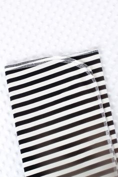 Swaddle blanket / black stripes blanket / baby by guguberry