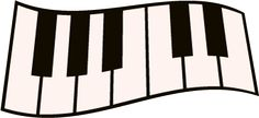 Piano Keys SVG File