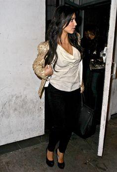 Kim Kardashian Photos: Eva Longoria Parker & Kim Kardashian Leaving Beso Restaurant