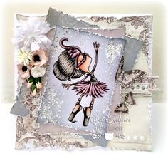 Kit and Clowder - love the frantage around the image and shabby chic look of this card