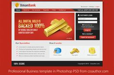 Beautiful Professional Business Template in Photoshop PSD for Free Download - cssauthor.com