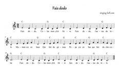 """Fais Dodo""  Music Score"