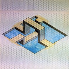 20140411a (regolo54) Tags: pattern geometry tessellation isometric tiling impossible isometricart isometricpattern