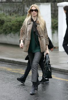 Claudia Schiffer Out & About In London