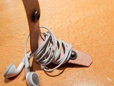 DIY Leather Earphone Organizer