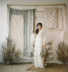 Bountiful Rustic Boho Meets Tropical Harvest Wedding Inspiration - Green Wedding Shoes : Boho Harvest Inspiration with mud cloth and dried florals