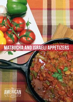 Matbucha is a Moroccan tomato salad, often served with Israeli appetizers like hummus, babaganush and schug. Think of this as an Israeli version of tapas! Israeli Recipes, Israeli Food, Jewish Recipes, Kosher Food, Kosher Recipes, Cooking Recipes, Healthy Recipes, Middle East Food, Middle Eastern Recipes