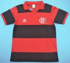 Superb vintage jersey of the great Brazilian club of Flamengo during the season. Flamengo had one of the greatest Brazilian players of all time. Retro, Jersey Atletico Madrid, Classic Football Shirts, Vintage Jerseys, Team Shirts, Football Jerseys, Mens Tops, How To Wear