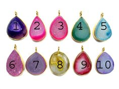 24 kt Gold Plated Druzy Pendants  1 piece of fine by finegemstone, $12.00