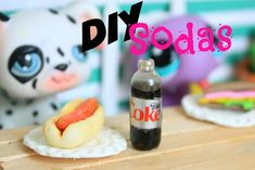 LPS DIY How to make miniature bottles of soda