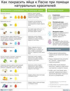 Как правильно покрасить яйца к пасхе. Народные рецепты
