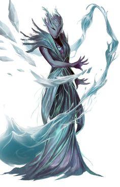 Erathi Mystic - Pathinder/Starfinder RPG (Aethera Campaign Setting Art) - Erin Frye