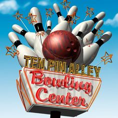size: Stretched Canvas Print: Ten Pin Alley Bowling Center by Anthony Ross : Artists Using advanced technology, we print the image directly onto canvas, stretch it onto support bars, and finish it with hand-painted edges and a protective coating. Old Neon Signs, Vintage Neon Signs, Old Signs, Roadside Signs, Roadside Attractions, Googie, Painting Edges, Art Nouveau, Stretched Canvas Prints