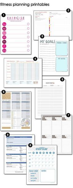 Planning to Get Fit – design finch Free Fitness, Exercise, Workout Printables Lippi Lippi Lippi Lippi Lippi Riemen Gardner I thought you might these with the challenge you are doing! Sport Fitness, Fitness Diet, Health Fitness, Free Fitness, Rogue Fitness, Fitness Shirts, Fitness Weightloss, Fitness Workouts, Fitness Tracker