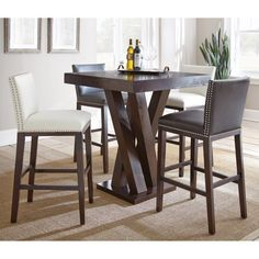 Steve Silver 5-Piece Pub Table Set - SSC2447 & Go to New Heights with These 7 Bar-Height Dining Tables | Pinterest ...