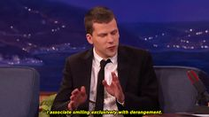 New trending GIF on Giphy. smiling conan obrien jesse eisenberg. Follow Me CooliPhone6Case on Twitter Facebook Google Instagram LinkedIn Blogger Tumblr Youtube