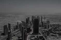 Dubai from the Burj Khalifa's viewing platform.