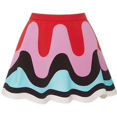 Emilio Pucci     Flounced Mini Retro Skirt ($1,720) ❤ liked on Polyvore featuring skirts, mini skirts, pink, pink frilly skirt, high-waist skirt, high-waisted skirts, pink high waisted skirt and frilly skirts