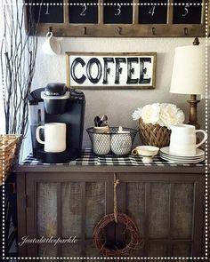Ideas para una coffee station en casa   Decoración